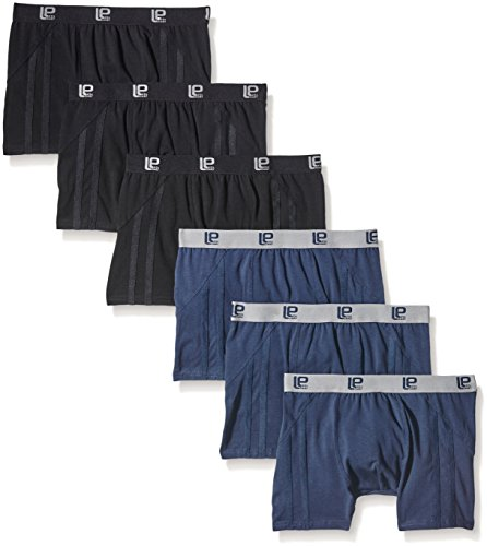 Lower East - Retro Style - Bóxer Hombre, pack de 6, Multicolor (Navy/Schwarz), XXXX-Large