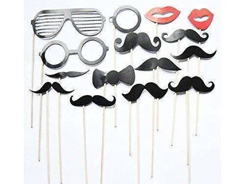 �ck Bunt Party Requisiten Fotokabine auf Stäbchen DIY Lustig für Hochzeit,Geburtstag,Weihnachten,Abschluss ()