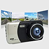 Auto DVR Dash Cam 4 pollici LCD doppia fotocamera registratore retromarcia 170 ° Grandangolare FHD Night Vision Video Camcorder supporto TF Card