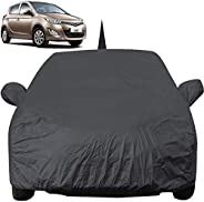 Autofact Car Body Cover for Hyundai I20 Old Model (2008 to 2014) with Mirror and Antenna Pocket (Light Weight,