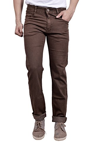 Studio Nexx Men's Denim Regular Fit Jeans (Brown, Size - 32)  available at amazon for Rs.729