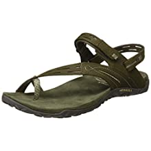 Merrell Women's Convert Ii T-Bar Sandals, Green (Dusty Olive), 5 UK 38 EU
