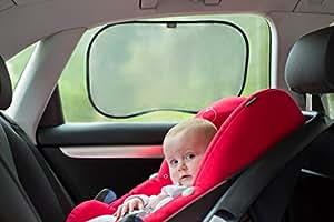 Parasole da auto Premium, 2 pz, anti raggi UV, per bambini, 100% funzionali