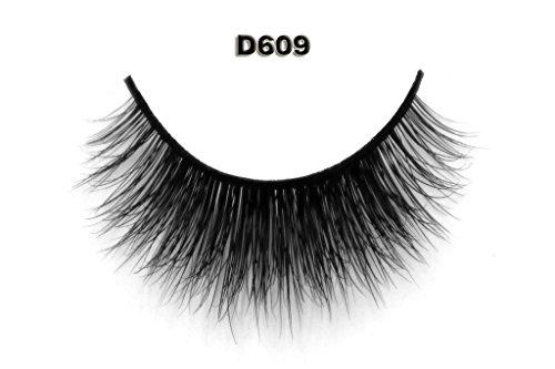 ndgefertigte Künstliche Wimpern Dickes Augen Lashes Falsche Wimpern D609 (Puppe Wie Make-up Halloween)