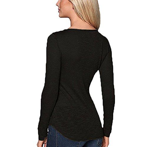 Damen Blusen Oberteile Blusenshirt Elegant Carmenbluse Locker Hemdblusen Blusen T-Shirt Baggy Sommer Schwarz
