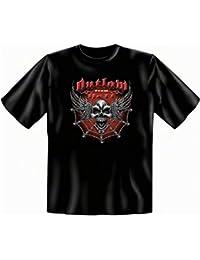 Metal Punk Totenkopf Halloween T-shirt Übergrößen 3XL 4XL 5XL Outlaw from Hell Fb schwarz