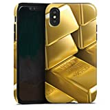 DeinDesign Apple iPhone XS Hülle Tough Case Schutzhülle Goldbarren Gold Barren