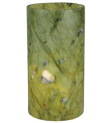 meyda Tiffany 121502Zylinder Jadestone flach Top Kerze Abdeckung/Halterung, 8,9cm Breite x 16,5cm Höhe, Grün (Kamin Hohe Decken,)