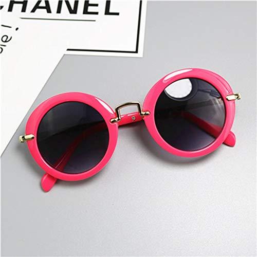HUWAIYUNDONG Sonnenbrillen,New Muster Mädchen Sonnenbrillen Markendesigner Uv400 Schutz Jungen Metall Umrandeten Sonnenbrillen Cool Goggles Rot