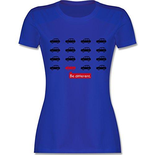 Statement Shirts - Be different. - Cabrio - tailliertes Premium T-Shirt mit Rundhalsausschnitt für Damen Royalblau