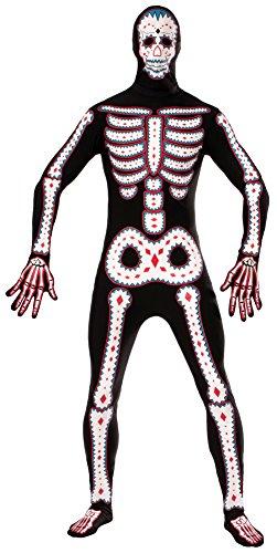 Bristol Novelty Forum Novelties AC609 Tag der Toten Verschwindender Mann Kostüm (Der Herren Halloween-kostüm Toten Tag)