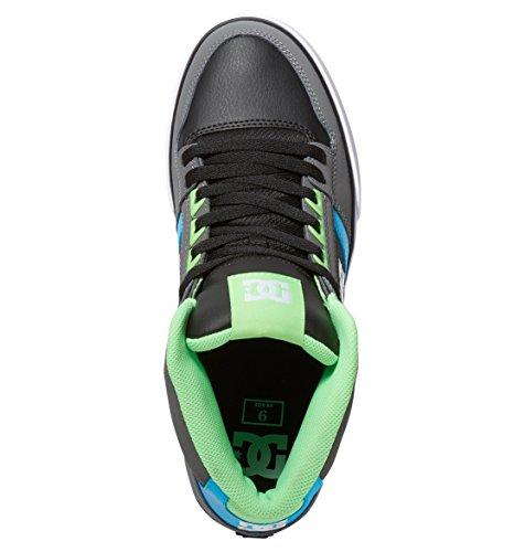 DC Universe Spartan High Wc, Baskets Basses Homme Gris - Grey/Green/Blue