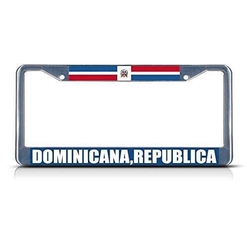 Dominicana Republica Nummernschildrahmen aus Metall, ideal für Männer und Frauen Bejeweled Rock
