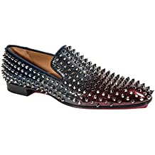 Christian Louboutin Homme Dandelion Spiked Loafers Bleu, rouge Taille 41.5