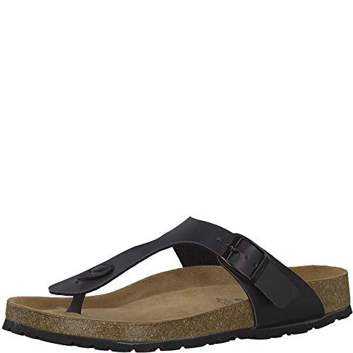 Tamaris 1-1-27531-22 Damen FlipflopsLeder,Sandale,hochwertig,bequem,leicht,Sommer,Strand Schuhe,Black,39 EU