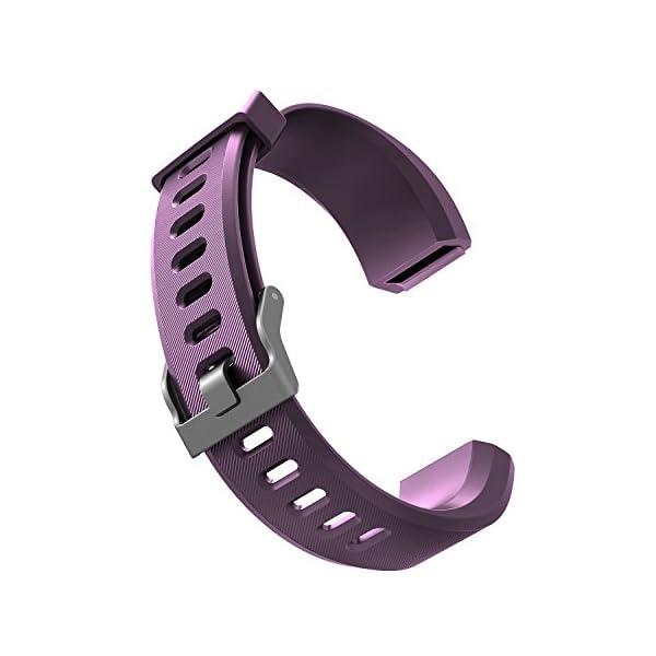 YiYunte ID115Plus HR - Correa de repuesto ajustable de TPU para pulsera inteligente 115 Plus HR Fitness Trackers 2