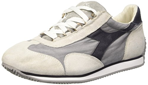Diadora Equipe Stone Wash 12, Scarpe Low-Top Unisex Adulto Bianco (White/Dk Smoke)
