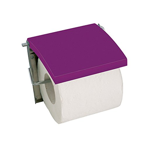MSV Toilettenpapierhalter, MDF mit Edelstahl, Violett