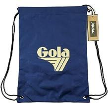 3218f8165a SACCA GOLA zaino a sacco Blu/Crema 42x31 borsa uomo donna per Tempo Libero -