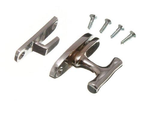 Vitrine Schrank fangen Verschluss CP Chrom mit Schrauben (Packung mit 2)