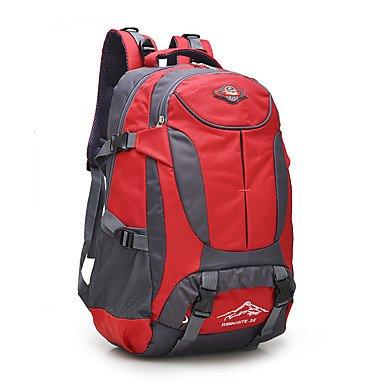 36 L Rucksack Camping & Wandern Reisen tragbar Atmungsaktiv Feuchtigkeitsundurchlässig Red