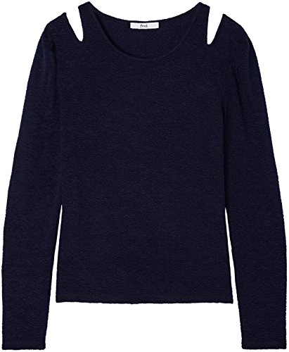 FIND Damen Langarmshirt mit Cut-Out-Details Blau (Navy)