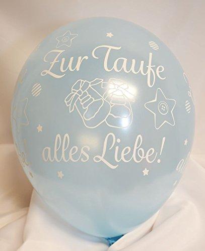 Unbekannt Luftballons Zur Taufe Alles Liebe hellblau Qualatex, ca. 30 cm, 5 St. (Taufe Blaue Ballons)