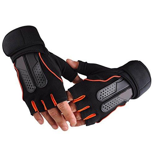 DOBEN Fitness Handschuhe Trainingshandschuhe mit Adjustable Handgelenkstütze für Krafttraining Gewichtheben