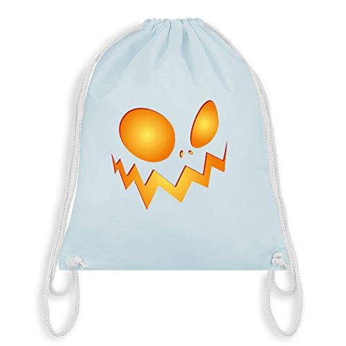 Halloween - Kürbisgesicht groß Pumpkin - Unisize - Pastell Blau - WM110 - Turnbeutel & Gym Bag