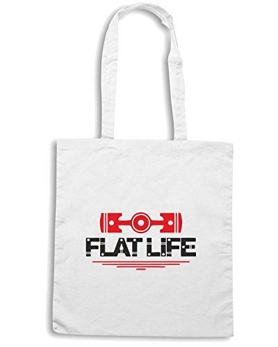 T-Shirtshock - Borsa Shopping TGAM0023 Flat Life Bianco