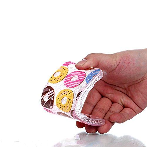 Beiuns pour Apple iPhone 6 (4,7 pouces) Coque en Silicone TPU Housse Coque - YT008 Plumes YT012 Beignets colorés