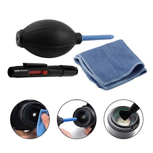 Colorful 3-Teiliges Reinigungsset (Einem Blasebalg, Einem Reinigungsstift und Einem Mikrofasertuch) für Spiegelreflex Kameras, Objektive, Handys, Smartphones, Camcorder, Etc