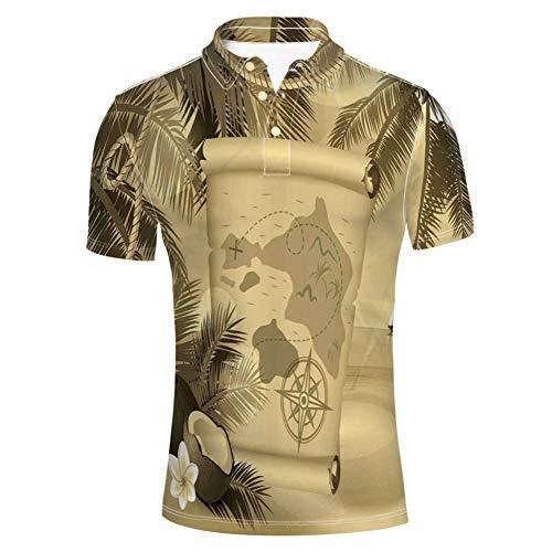 Seychelles Natural Granite Relaxation Mediterranean Polo Shirt für Herren Seychelles Natural