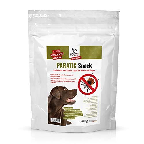Dogs-Heart Anti-Zecken Snack für Hunde (Sparpack 900g) - Das ORIGINAL! Natürliche Abwehr gegen Zecken, Flöhe und Milben mit Schwarzkümmelöl - Auch für Welpen (4 Monatspackung für Hund mit ca. 25kg)