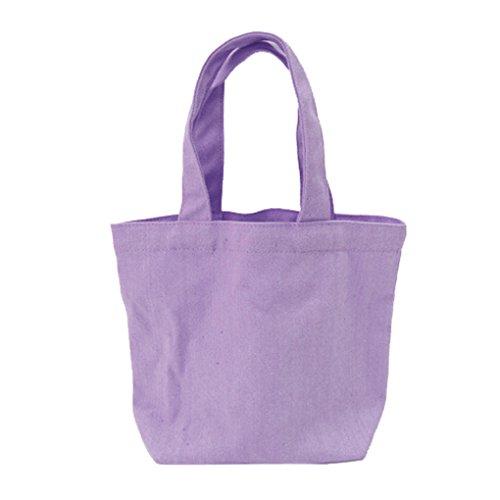 LUFA Segeltuch Mittagessen Beutel thermische Beutel Mittagessen Kasten Verpackung Kosmetische große Kapazitäts Beutel lila