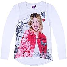 Disney Violetta Ragazze Maglietta maniche lunghe 2016 Collection - bianco
