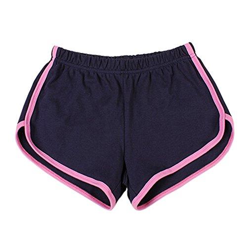 Frauen-Sporthosen Strand Shorts Springy Trunks für die Fitness marine/rosa