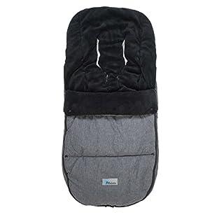 Altabebe AL2280P - 01 Winterfußsack Travel geeignet für Bugaboo und Joolz, dunkelgrau/schwarz