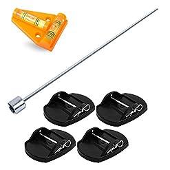 Pro Plus – Piastre di sostegno + avvitatore a batteria + livella a croce per camper o roulotte