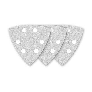 50 MENZER Klett-Schleifblätter/Schleifpapier für Deltaschleifer weiß - 93 mm - Korn 80-6-Loch