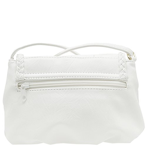 Piccola Borsa donna Borsa a tracolla borsa da città borsa a tracolla borsa Clutch 23 x 14 cm bianco