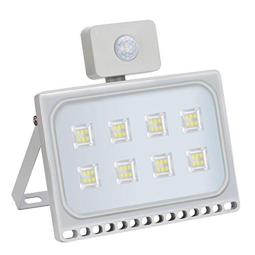 Proyector LED Foco para Reflector LED con Detector de Movimiento, Ultradelgado,, Blanco...
