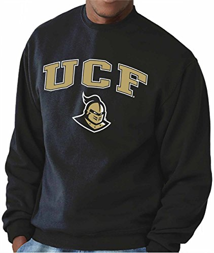 Central Florida Knights Erwachsene Arch & Logo Gameday Crewneck Sweatshirt - Schwarz, Herren, Schwarz, X-Large (Sweatshirt Crewneck Usa)