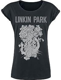 Linkin Park Eye Guts T-shirt Femme noir