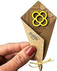 Pin flor de Barcelona amarillo, Pisando Barcelona, idea regalo para mujer