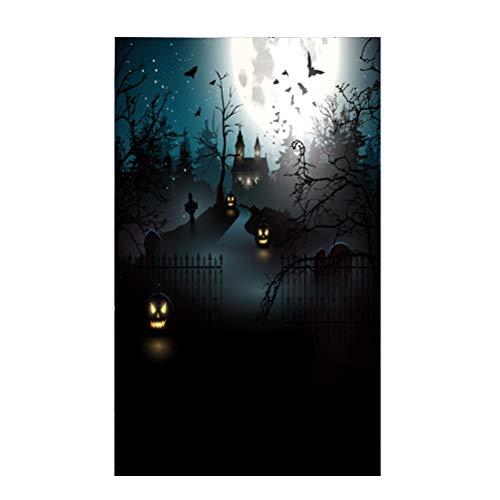 LEDMOMO 90x150 cm 3D Halloween Creepy Kulisse Realistische Horror Thema Hintergrund für Parteien Fotografie Studio Photo Booth (DZ-792) (Booth Photo Die Halloween Kulisse Für)