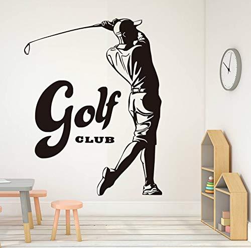 xlei Sticker Mural Sports Game Golf Étanche Stickers Muraux pour Chambre À Coucher Vintage Golf...