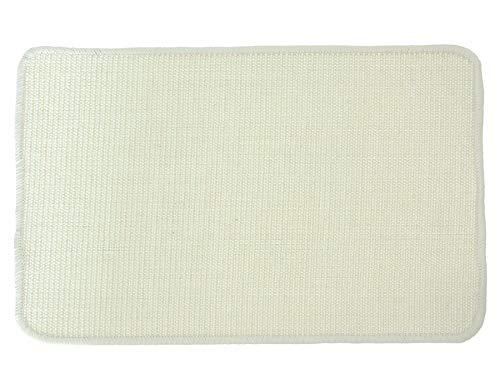 Primaflor - Ideen in Textil Katzen-Kratzmatte Katzenteppich - Creme 100 x 100 cm, Sisal, Rutschhemmend - Sisal-Matte, Geeignet für Fußbodenheizung, Sisalteppich für Wand & Boden