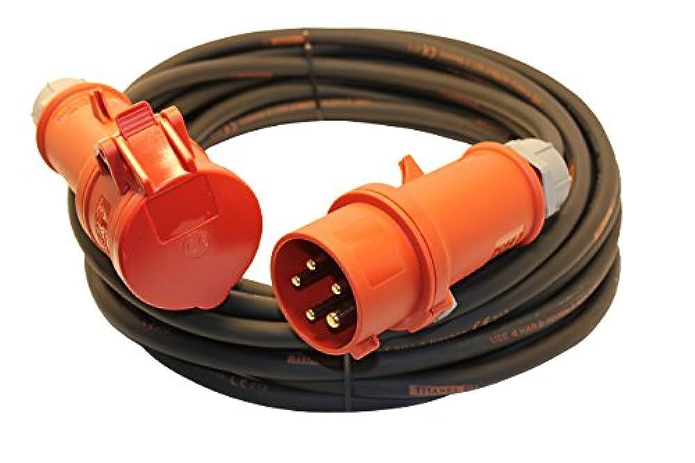 CEE Verl/ängerungskabel Starkstromkabel 63A 400V Gummileitung H07RN-F 5g10 mm/² IP44 au/ßen 5m