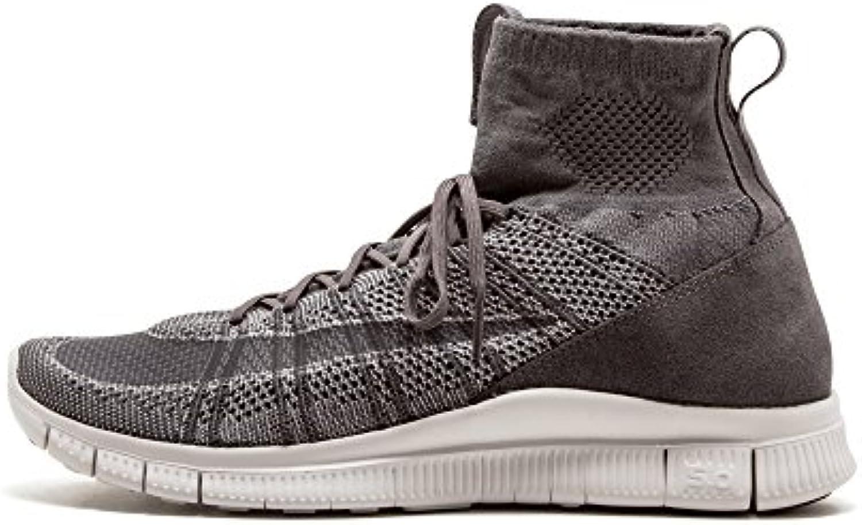 Nike Herren Free Flyknit Mercurial Fußballschuhe  Grau
